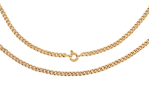 """Victorian Gold Curb Chain, 19"""" (6.9g) - image 1"""