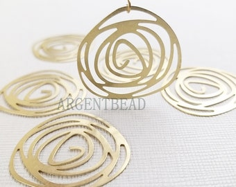 10 x Half Moon D Shaped Raw Brass Charm Multi Link Connector 15x30mm BR1014 Raw Brass Connectors