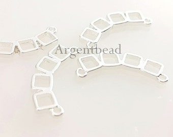 5pc 20mm abstract multi-square charms, geometric pendants,supplies for making jewelry / jewellery  AG2016111344