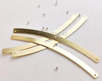 4pcs  103 x 6 mmFlatten Curved Antique Brass Bars DIY,Chevron, Brass Chevron , Semi crescent 1AG31