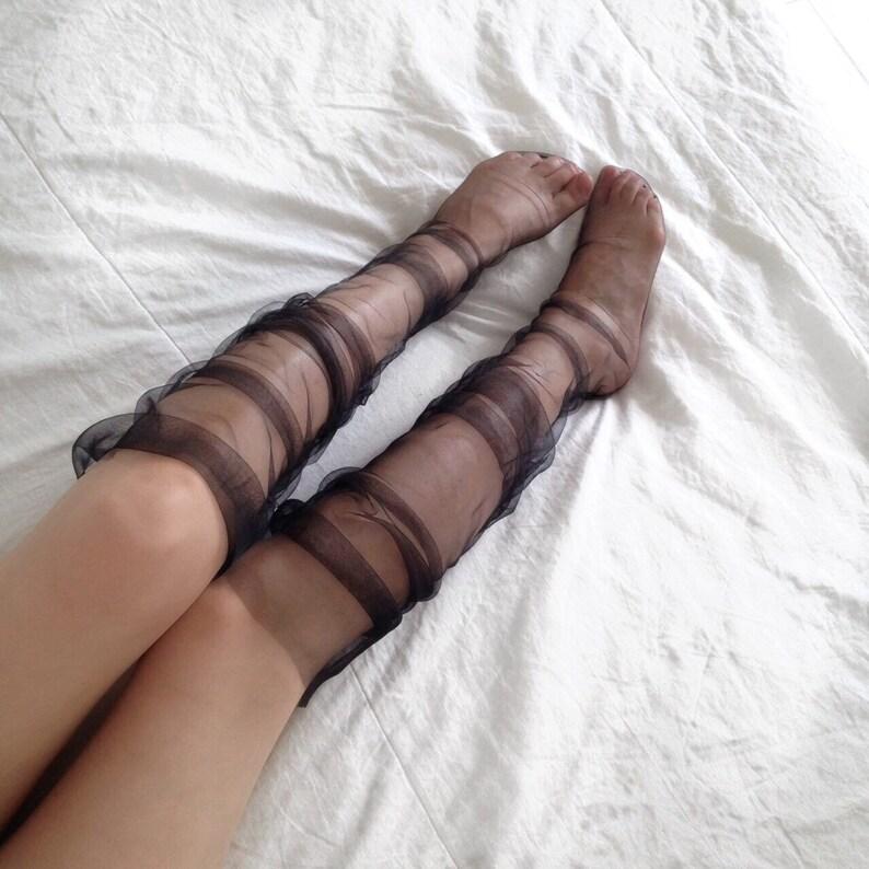ca9330232 Tulle socks thigh high socks tulle stockings sheer socks
