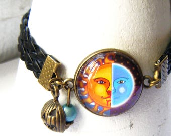"""Bracelet """"the Sun a date with the Moon"""""""