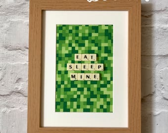 Minecraft inspired wall art - minecraft wall decor - minecraft wall decal - minecraft bedroom theme - minecraft wall art - minecraft gift : minecraft decals for walls - www.pureclipart.com