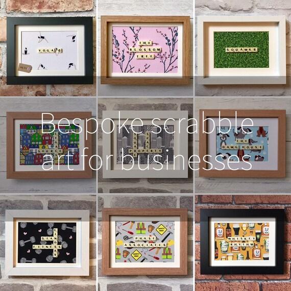Personnalisé Scrabble ART Frame-Parfait pour Cadeaux Noël anniversaire
