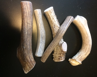Elk and Deer whole antler dog chews by the pound-save big!