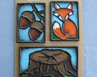 Woodland Magnet Set