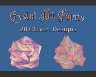 Crystal Art Points Clipart Designs
