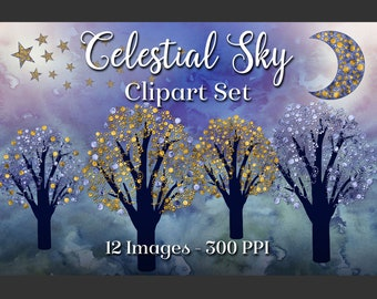 Celestial Sky - 12 PNG Clipart Images
