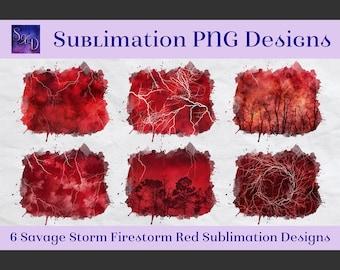 Sublimation PNG Designs - Savage Storm Firestorm Red Images