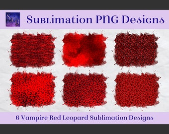 Sublimation PNG Designs - Vampire Red Leopard