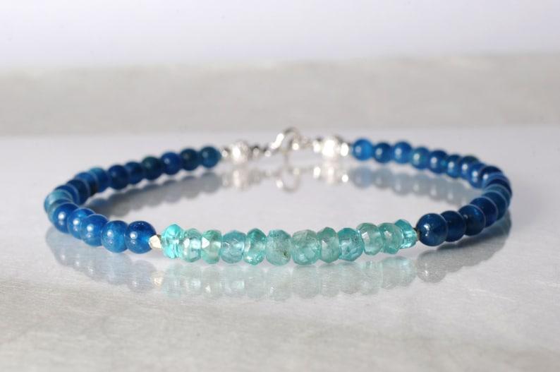 Apatite bracelet arm candy bracelet friendship bracelet image 1