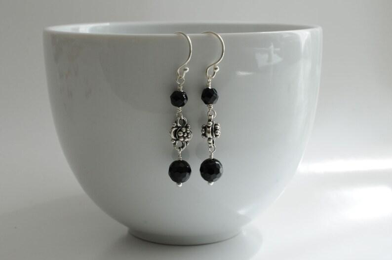 Onyx earrings gemstone earrings image 0