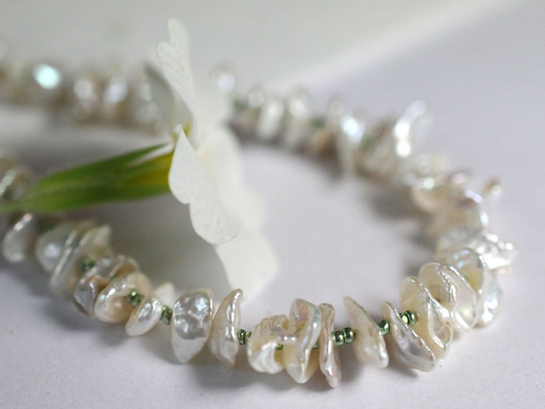 Keshi pearl necklace image 0