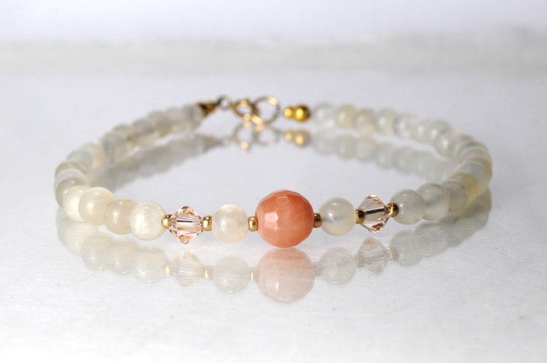 Moonstone bracelet yoga bracelet image 0