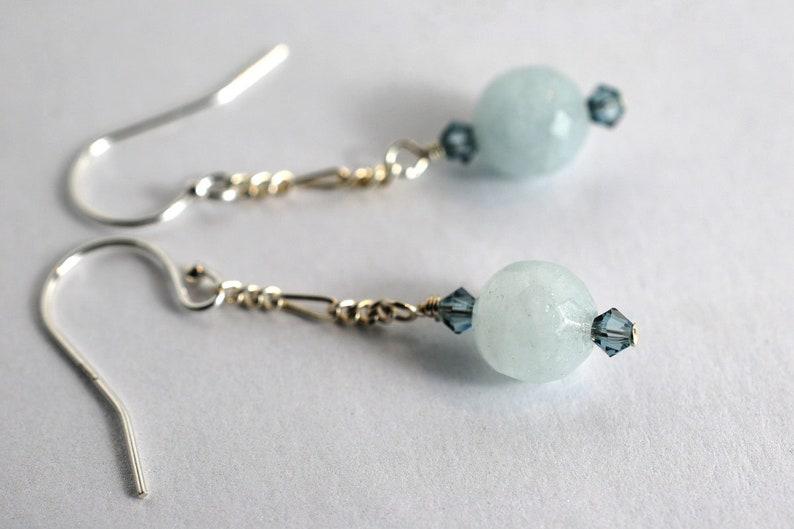 Aquamarine gemstone earrings image 1