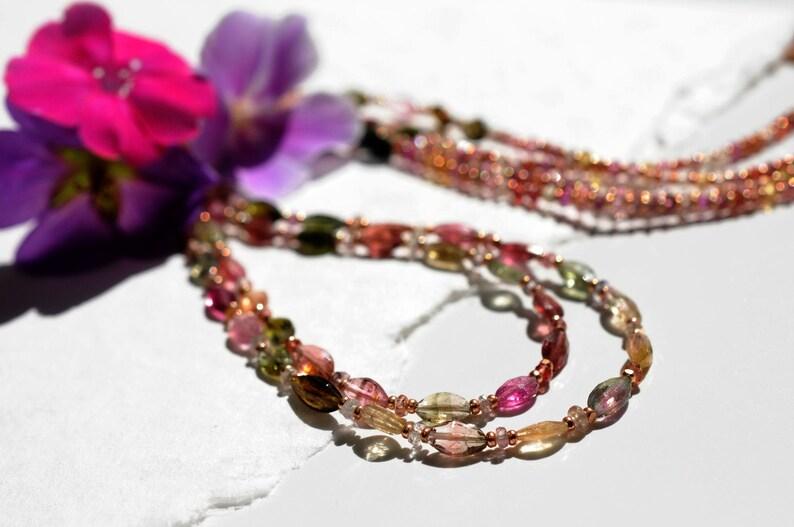 Tourmaline gemstone necklace image 0
