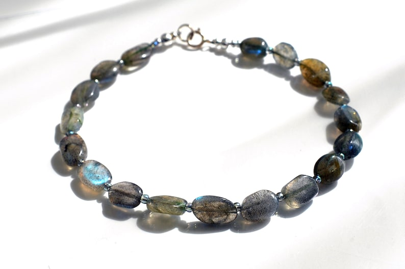 Labradorite gemstone bracelet arm candy bracelet friendship image 0
