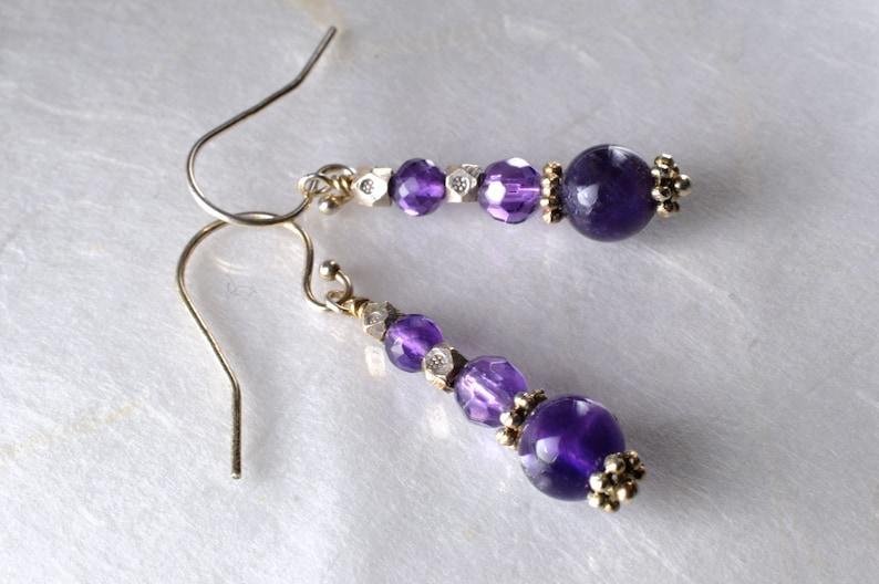 Amethyst earrings February birthstone image 1