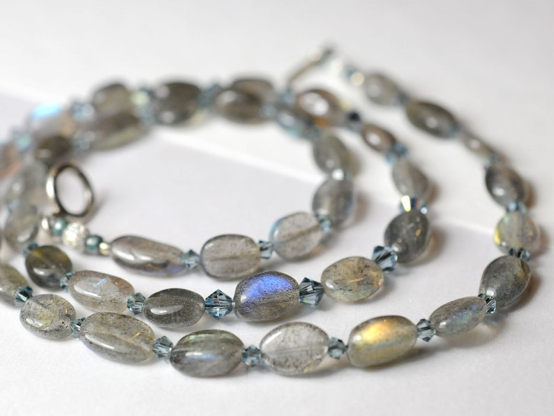 Labradorite and crystal necklace image 0