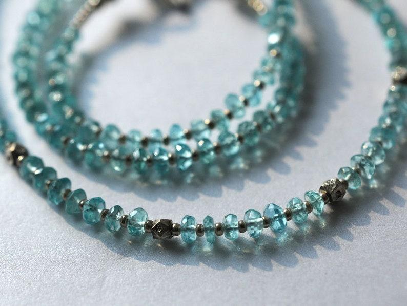 Apatite gemstone necklace image 0