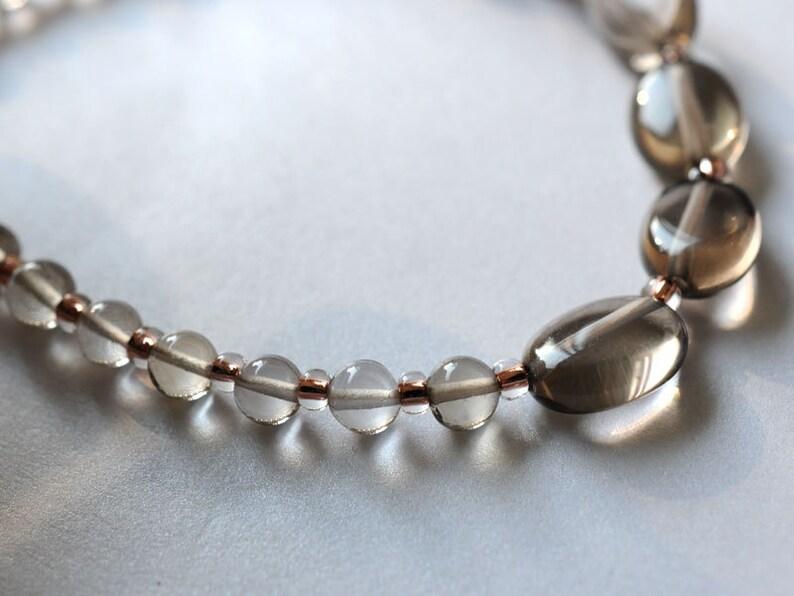 Smoky quartz bracelet yoga bracelet friendship bracelet arm image 1