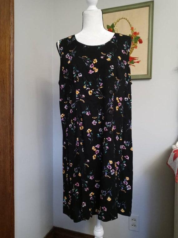 Vintage Black Floral Pattern Romper - image 2