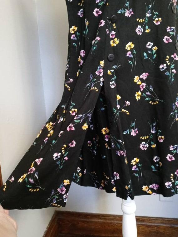 Vintage Black Floral Pattern Romper - image 5
