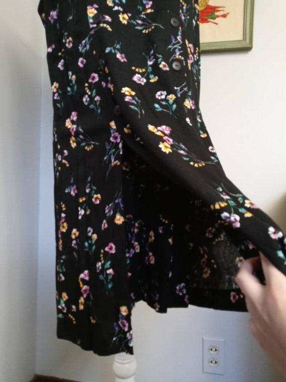 Vintage Black Floral Pattern Romper - image 7