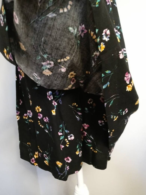 Vintage Black Floral Pattern Romper - image 8
