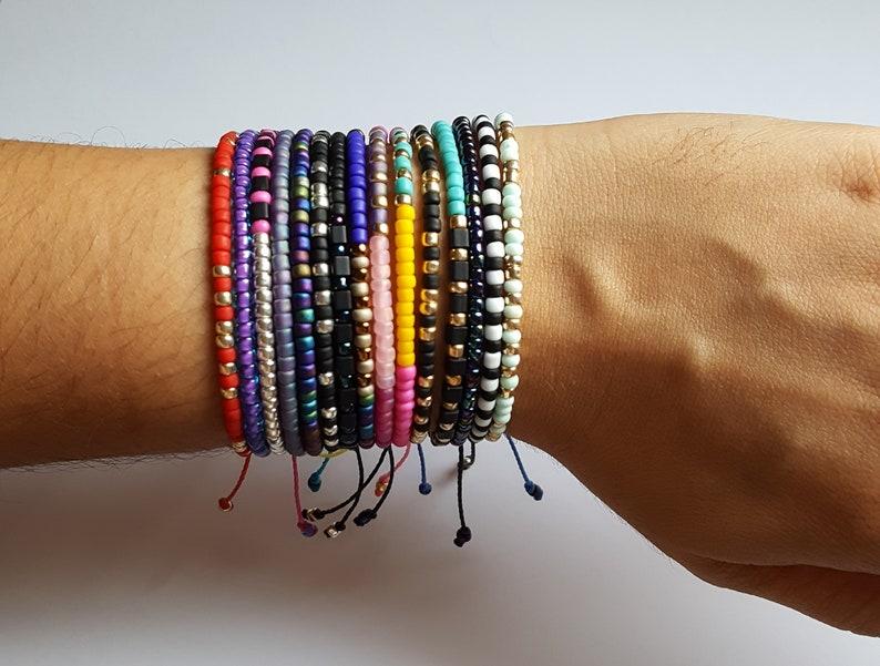 bracelet adjust bracelet adjustable bead bracelet friendship bracelet bead bracelet Adjustable bracelet Turquoise seed bead bracelet