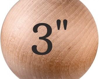 Unfinished Hardwood Wooden Shapes 12-1 12 Wood Balls Dolls Bears Toys Crafts