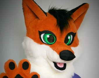 Fox fursuit partial for kids fox mascot costume fox furry fox halloween costume halloween animal costume : cheap mascot costumes for kids  - Germanpascual.Com
