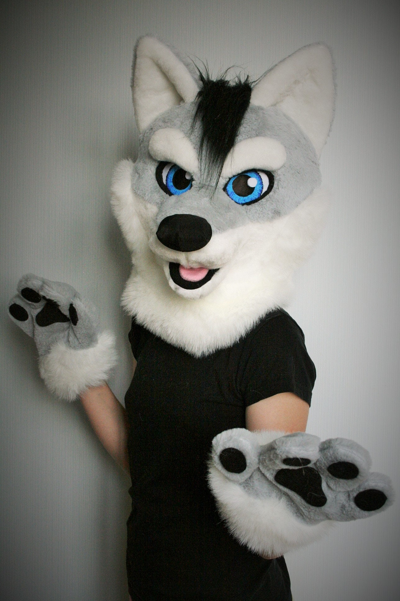 No Christmas Delivery Wolf Fursuit Partial For Kids Wolf
