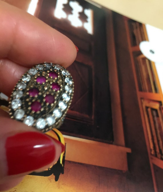 Turkish Ruby Sterling Silver Ring - image 7