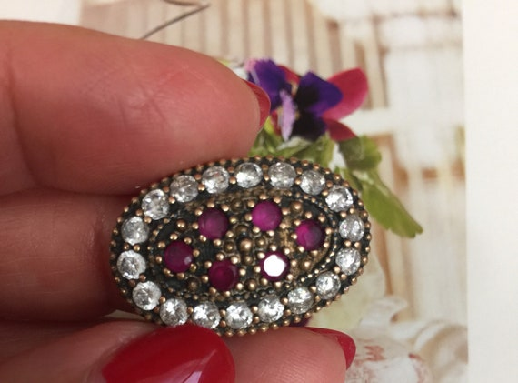 Turkish Ruby Sterling Silver Ring - image 8