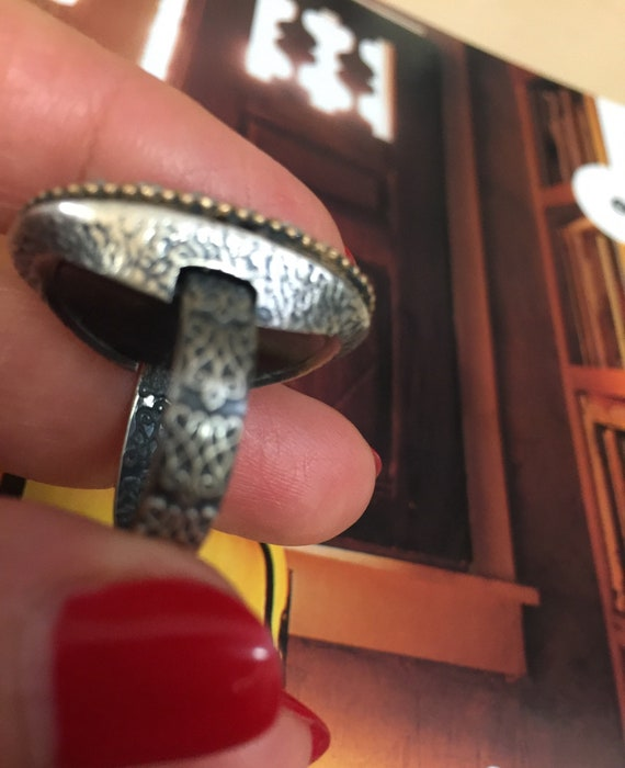 Turkish Ruby Sterling Silver Ring - image 6