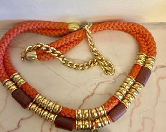 Vintage Ethnic Necklace with Elephant Pendant
