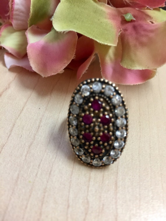Turkish Ruby Sterling Silver Ring - image 9