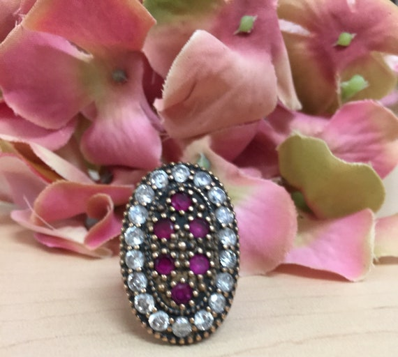 Turkish Ruby Sterling Silver Ring - image 4