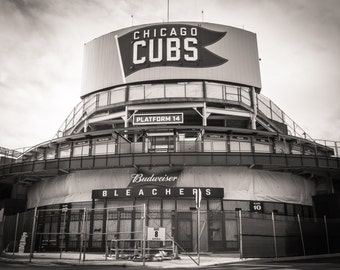 Chicago Photography, Wrigley Field, Street Photography, Black and White Photography, Chicago Print, Fine Art Photography - Chicago Cubs