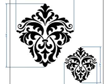Floral Stencil Vintage Template Masks Card making Crafts Paint FurnitureFL95
