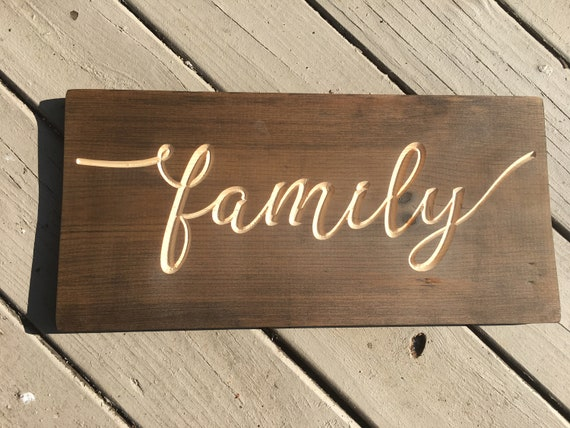 Wood Family Sign Rustic Wall Decor Country Barn Shiplap | Etsy
