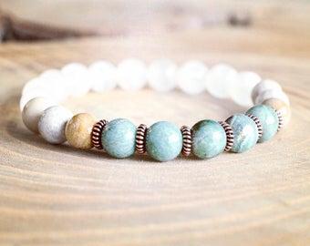 fertility mala bracelet, fertility bracelet, mala bracelet, healing bracelet, mala beads, yoga bracelet, yoga jewelry, yoga mala bracelet