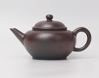 200ml Wood-fired Yixing Shuiping Teapot, Dicaoqing clay, by Chen Chun Hong