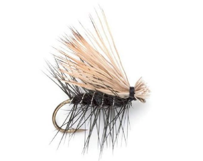 Black Elk Hair Caddis Classic Dry Fly - Hook Size 16 - Hand-Tied Fly Fishing Trout Flies