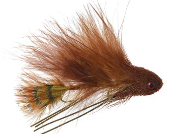 Hand Tied Flies Mini Sex Dungeon Streamer White Articulated Trout and Bass Fly Fishing Flies