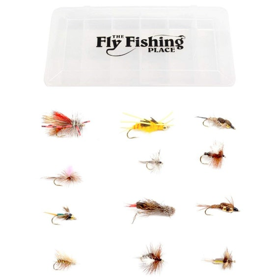 Quality Trout Fly Box  Assortment 60 Western Trout Flies w//box