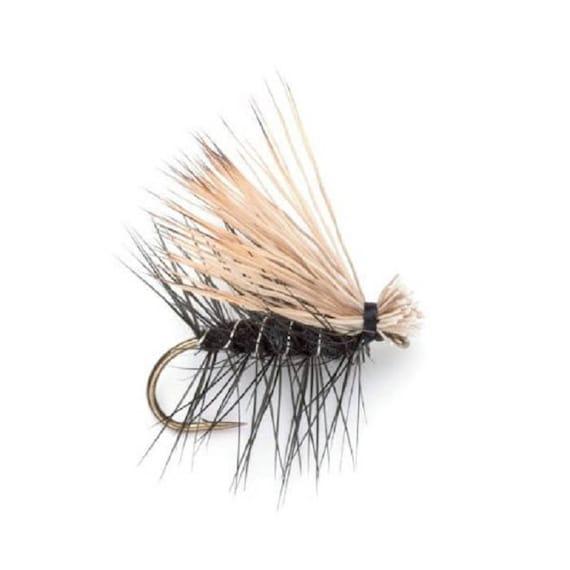 Per 6 Premium Fishing Flies Size 16 Yellow Elk Hair Caddis 2019
