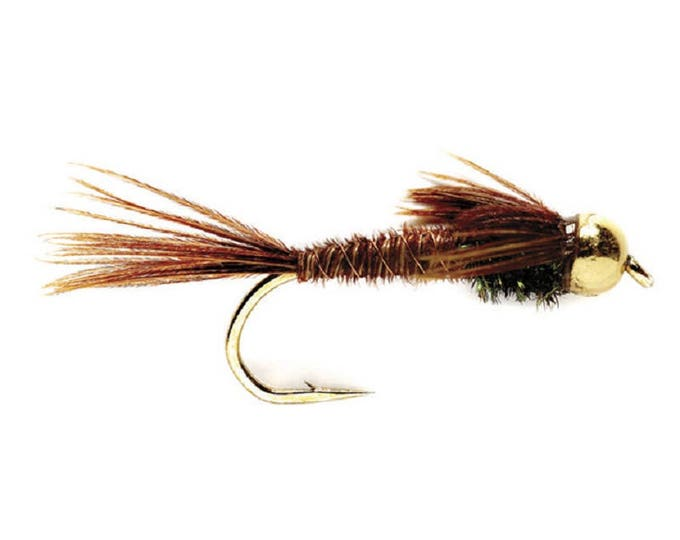 Bead Head Pheasant Tail Nymph Fly - Trout and Panfish Fly Fishing Flies - Hook Size 14 - Hand Tied Trout Flies