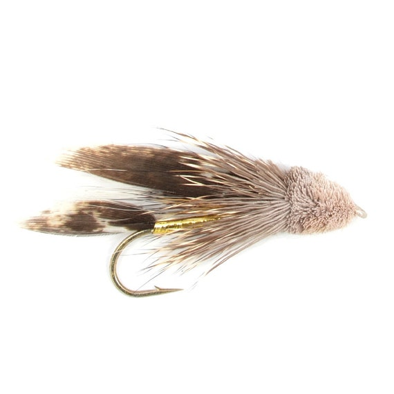 Taille 12 2 mouches Noir /& Argent Wet Fly Fishing